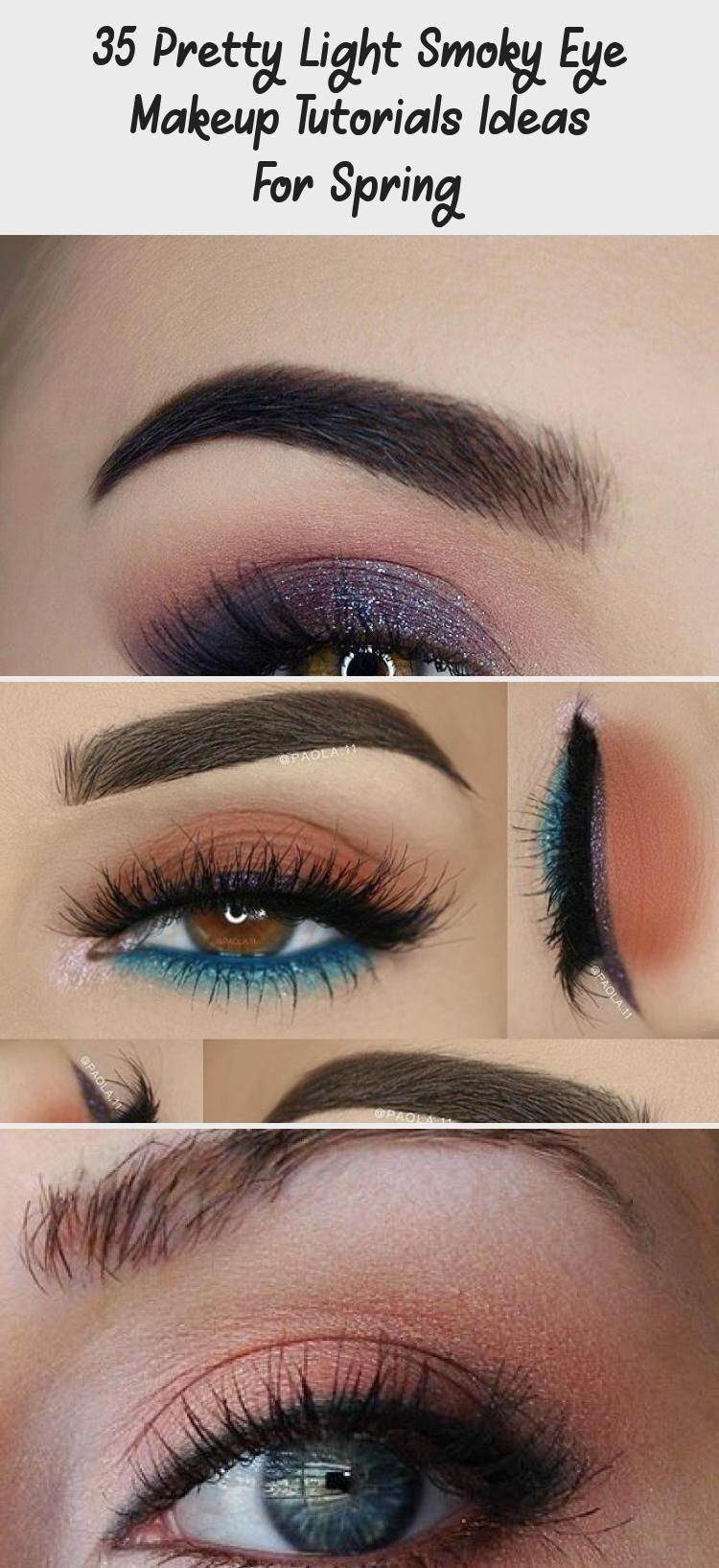 35 Pretty Light Smoky Eye Makeup Tutorials Ideas For Spring Eye