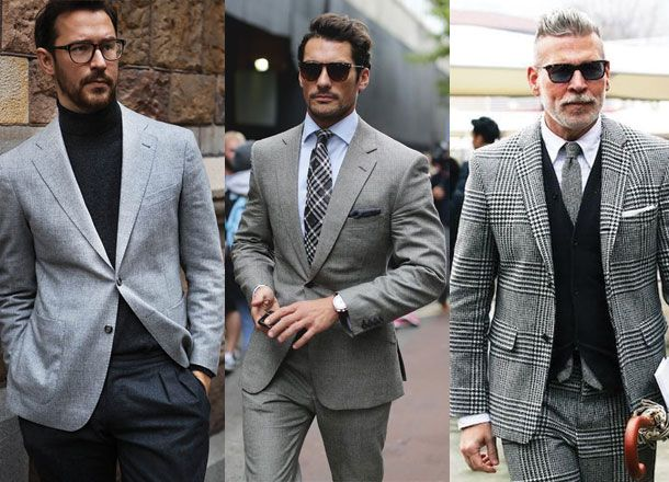 Inspiration Guide: 50 Ways To Wear A Grey Suit | Men suits ...