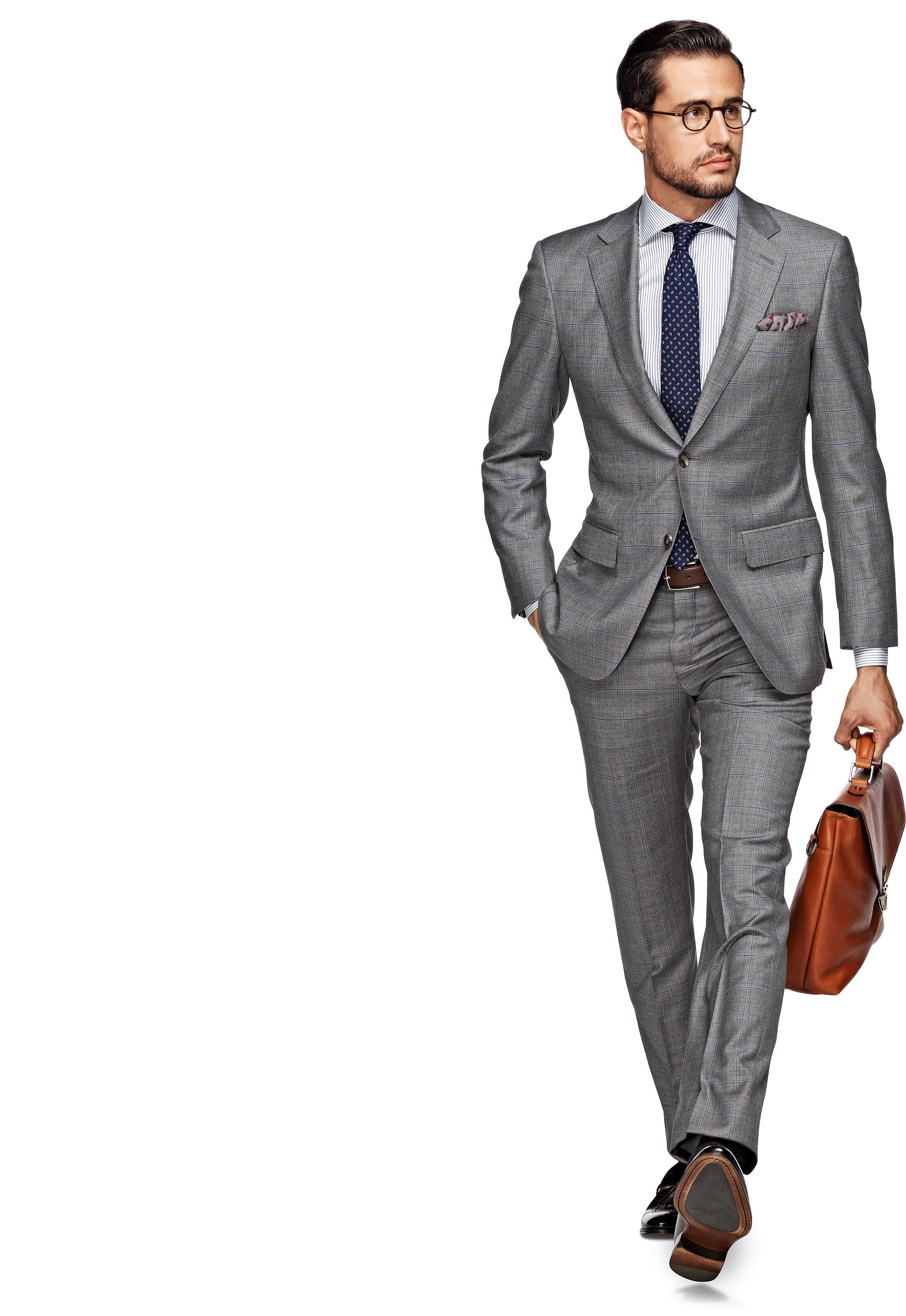 Every man needs a grey suit. Suit Light Grey Check Napoli P3432 ...