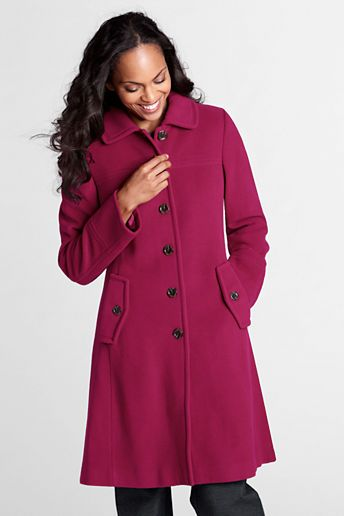 Women's Luxe Wool Swing Car Coat | Gifts for Her | Pinterest ...