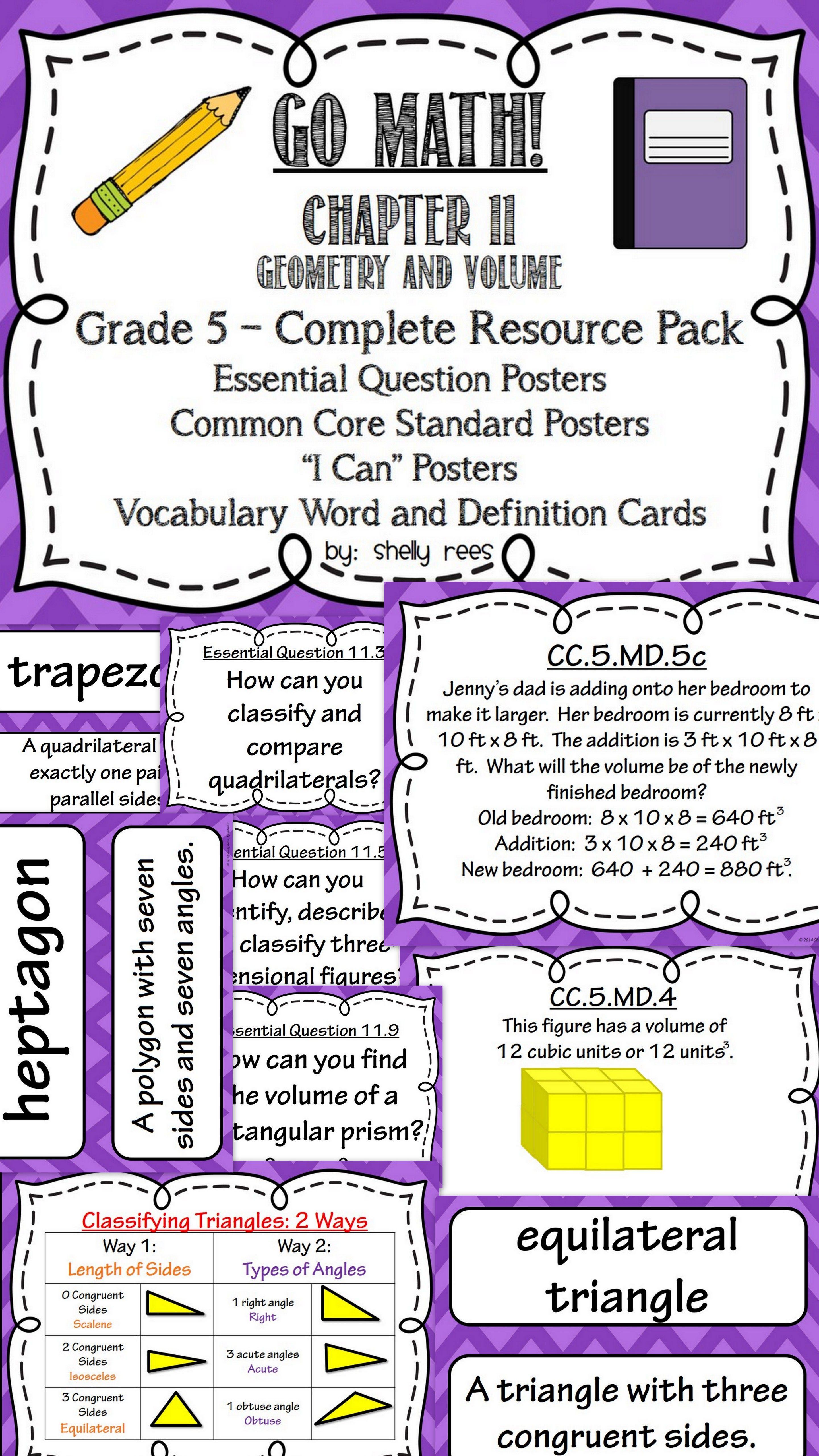 Go Math 5th Grade Chapter 11 Resource Packet   Go math [ 5120 x 2880 Pixel ]