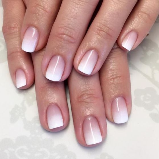 2017 Nail Polish Trends. Natural ombre french tip acrylic manicure ...