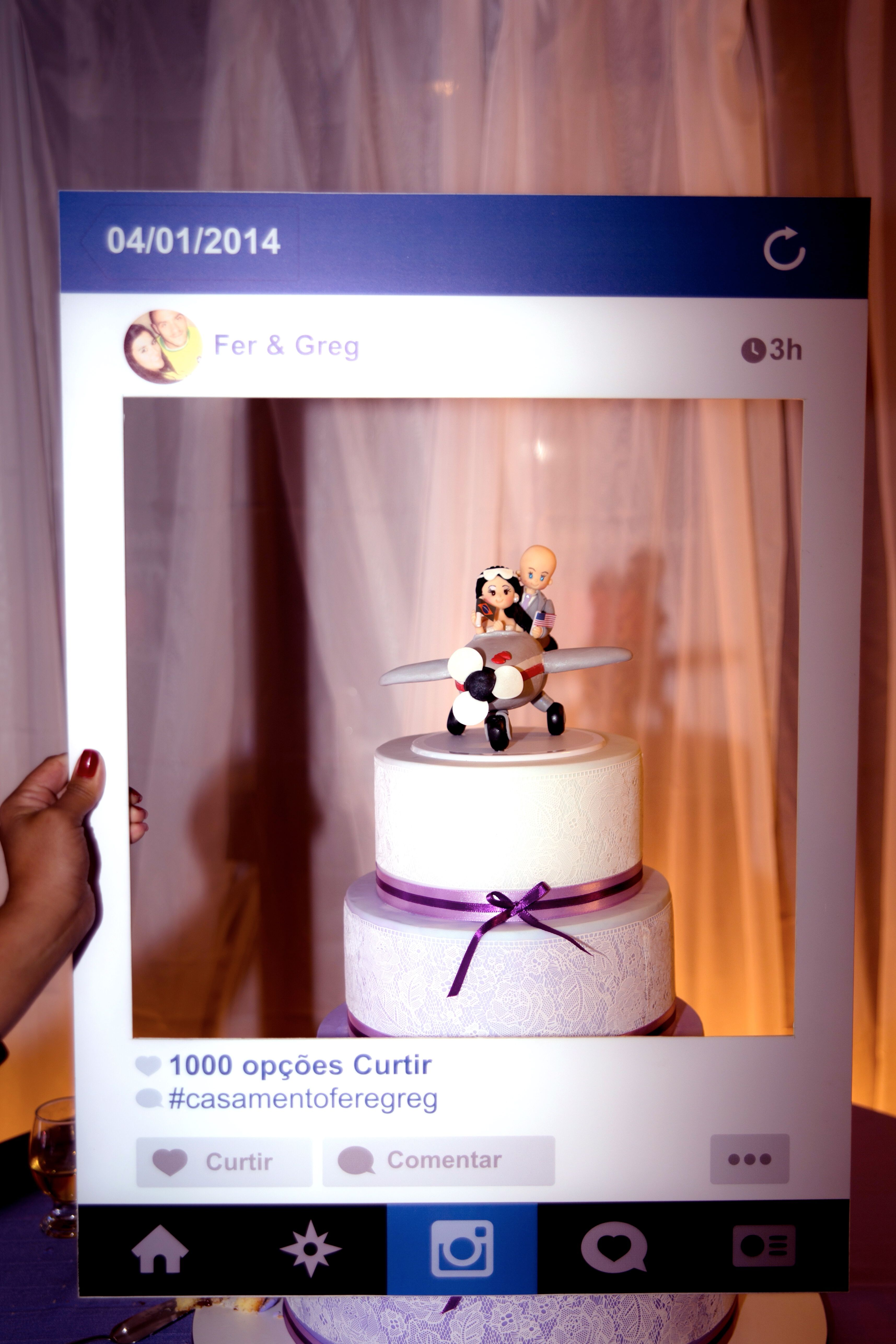 Instagram board for the wedding. Plaquinha do Instagram