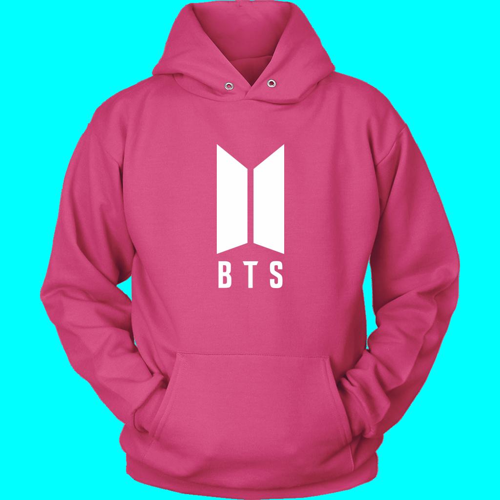 BTS Logo Unisex Hoodie Hoodies, Unisex, Kpop fashion