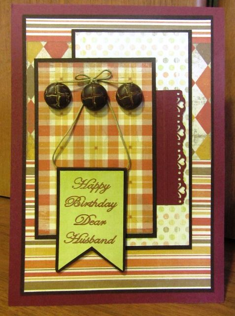Male Birthday Card Ideas For Papers Placement And Punch Use At Side
