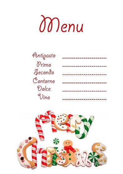 Immagini Menu Di Natale Da Stampare.Segnaposto Natalizi Da Stampare Cerca Con Google