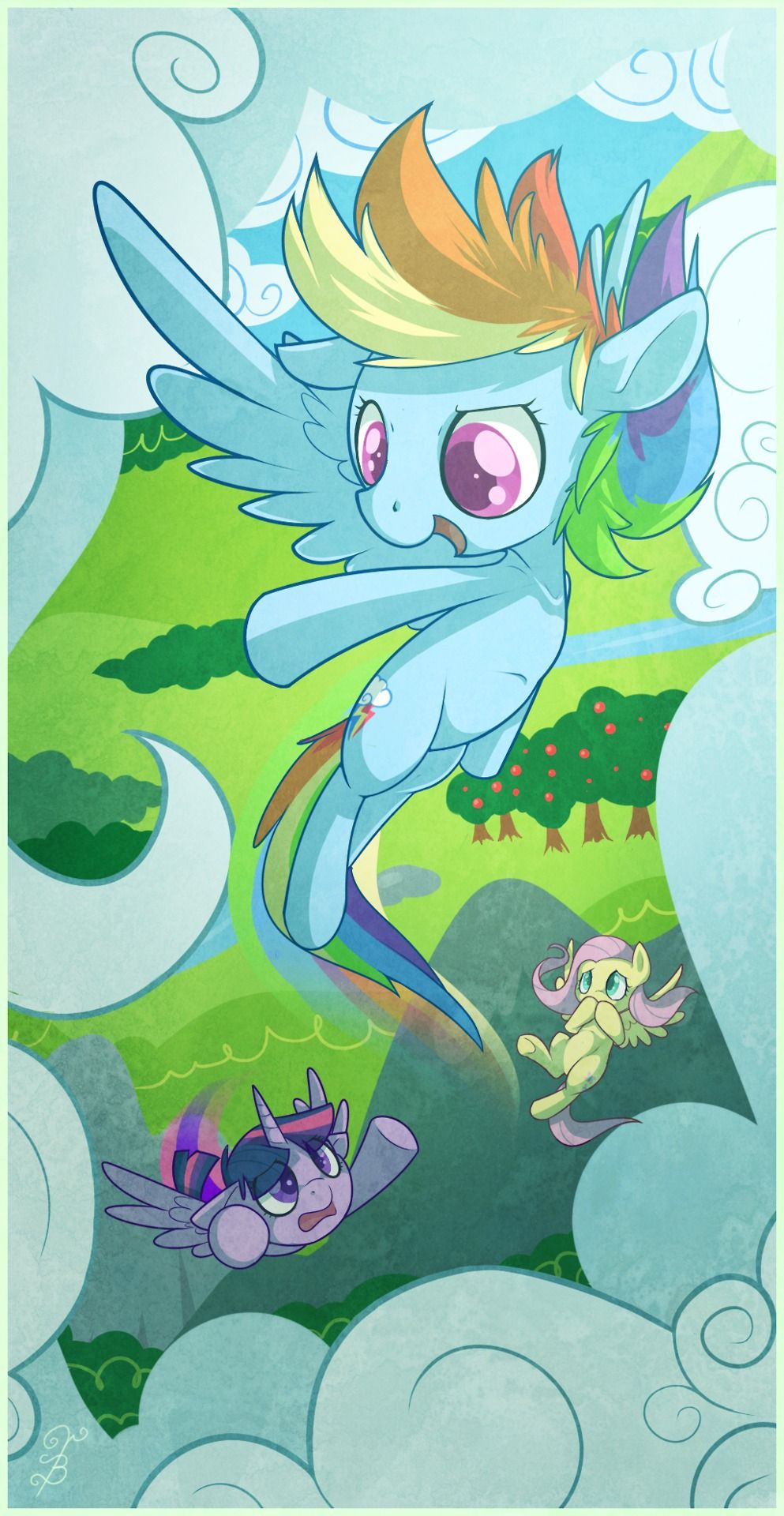 Dash, Twilight and Fluttershy