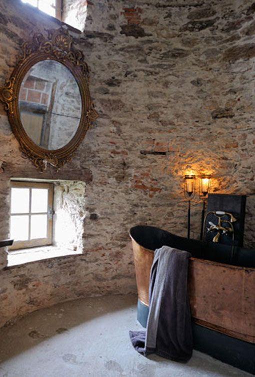 Rustic salle de bain, Campagne Toilets Pinterest Bath