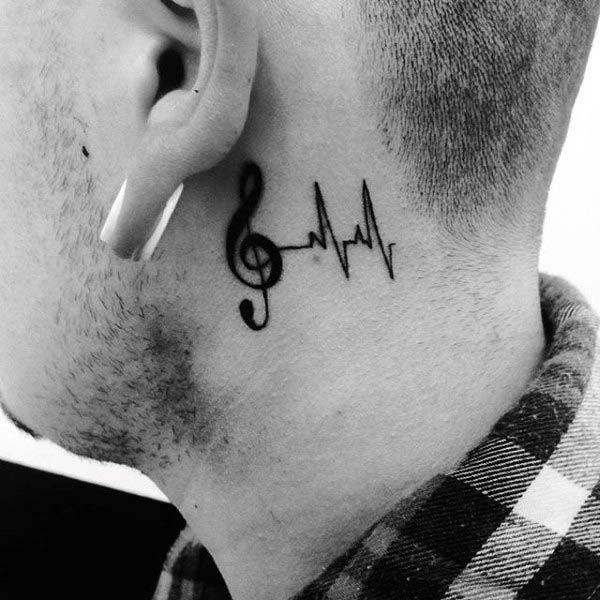 80 Treble Clef Tattoo Designs For Men - Musical Ink Ideas #trebleclef