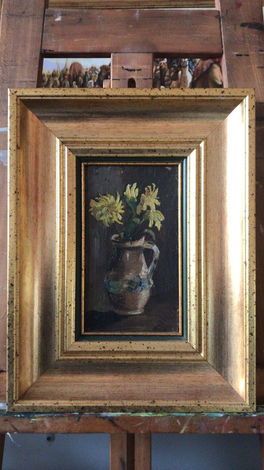 Uu still life of floral arrangement oil painting flowers in vase