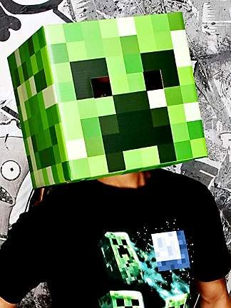 Minecraft Creeper mask from the Catch My Party Store! #costume - minecraft halloween costume ideas