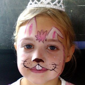 Bunny Face Paint. Could Make A White Tutu