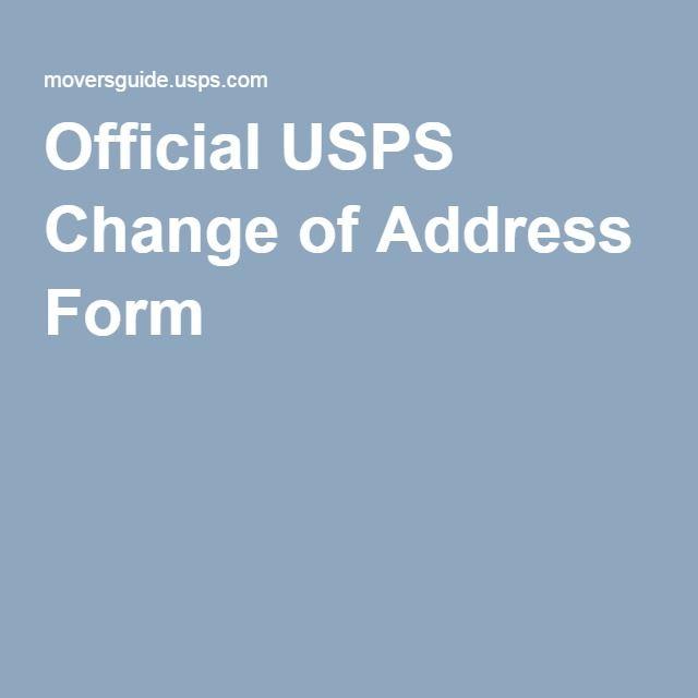 Official USPS Change of Address Form Decorating Pinterest - official change of address form