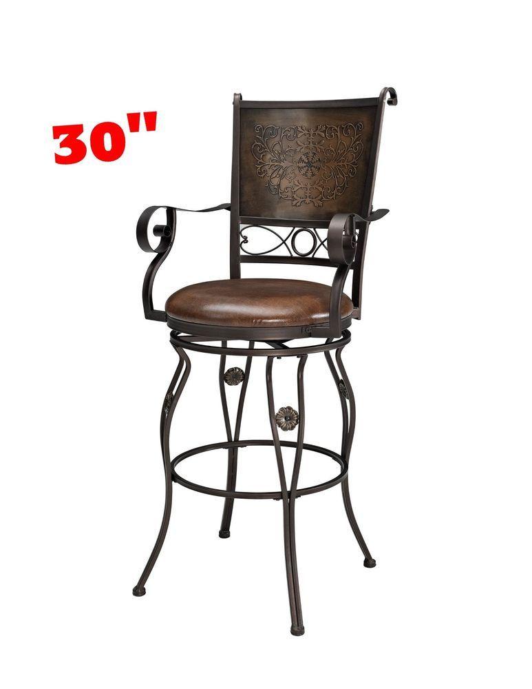 Metal Barstools Vintage Industrial Counter Height Stamped ...
