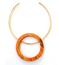 Olive wood collar necklace- Item Code: FWN3