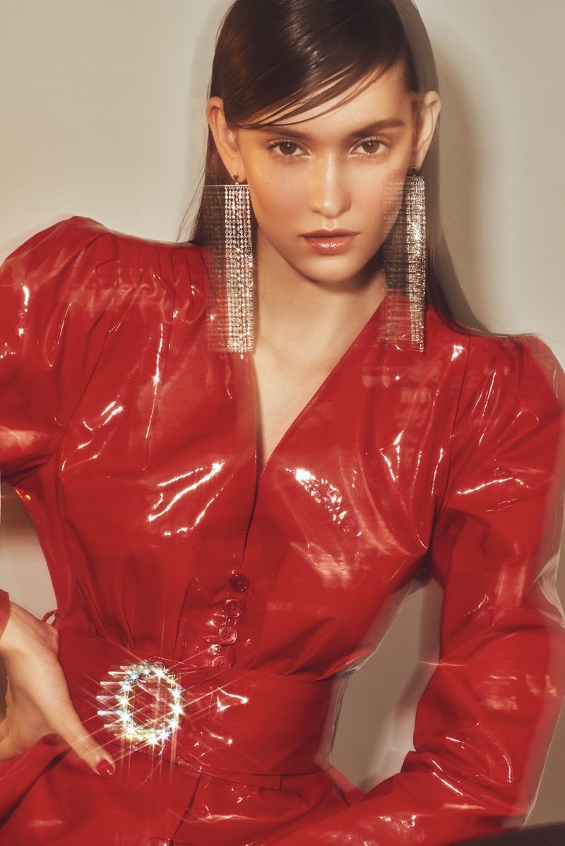Fred Juneau is Red-Hot for L'Officiel Thailand Beauty #editorialfashion