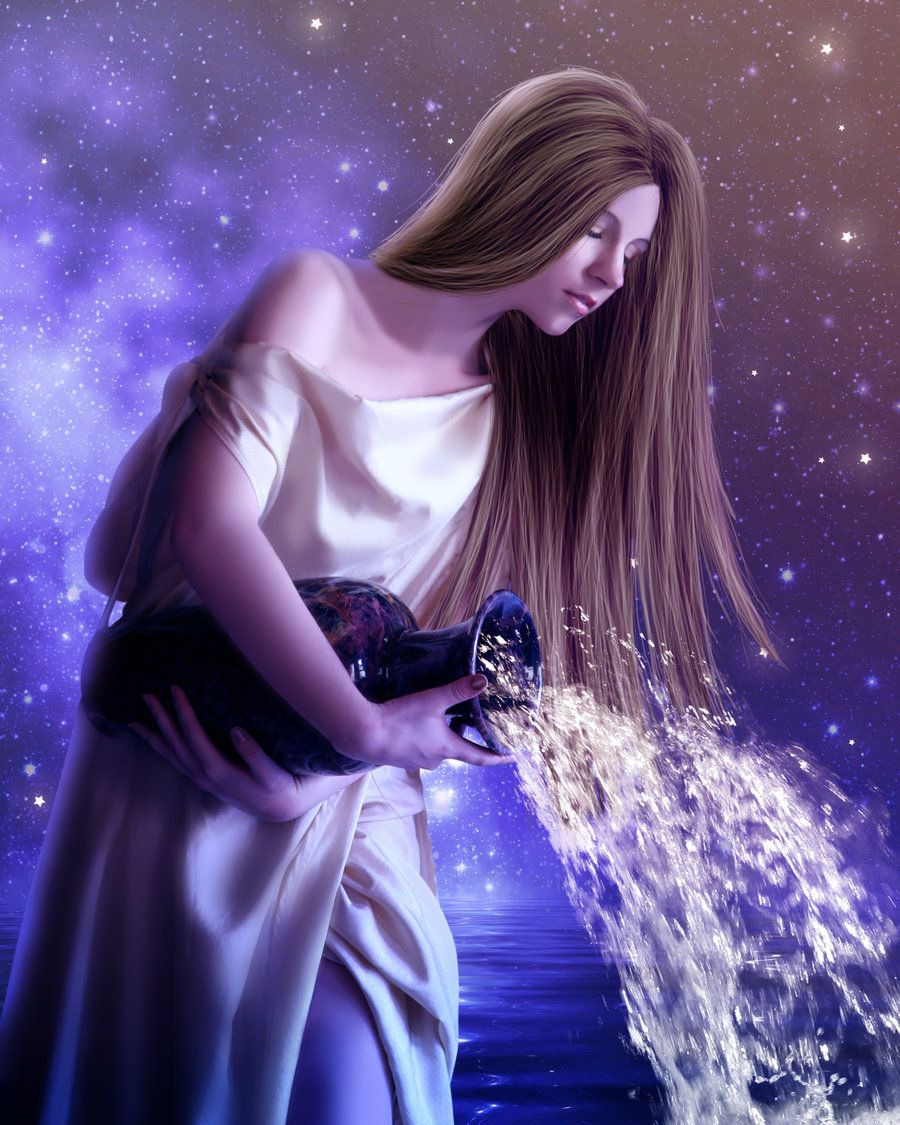 Aquarius | Age of Aquarius | Aquarius art, Aquarius, Moon in