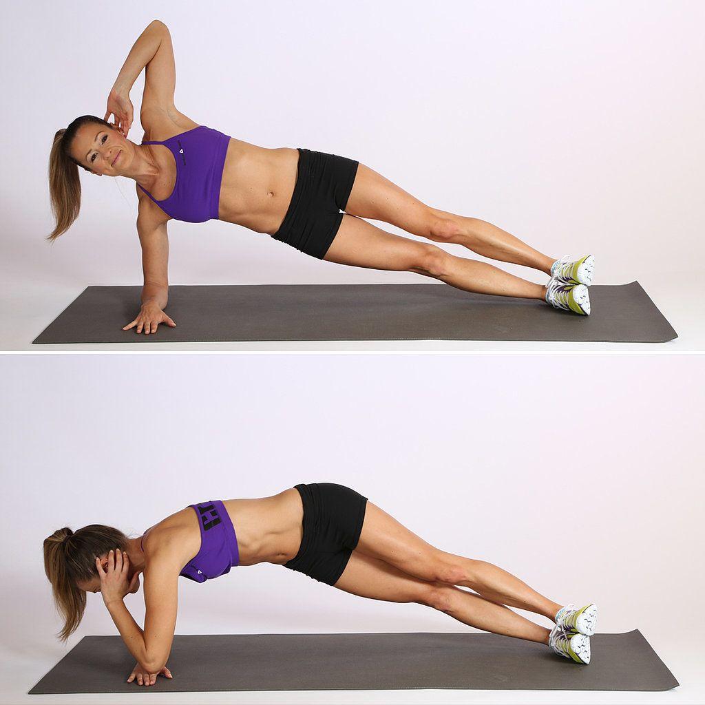 Circuit One Elbow Plank With Twist Bikini Workout Exercise Abs Workout