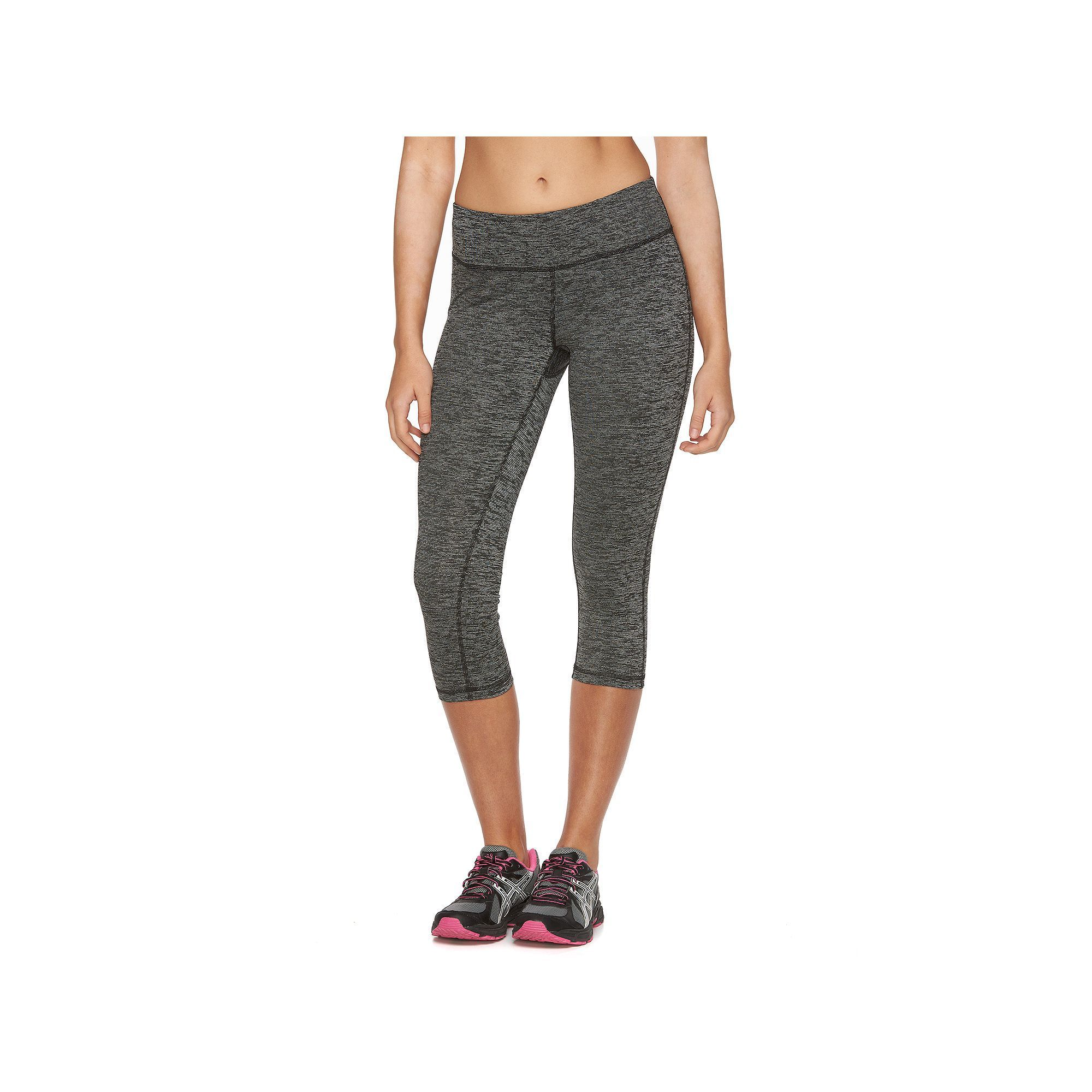3da1e4fea9 Women's Tek Gear® DRY TEK Space-Dye Capri Workout Leggings, Size: Medium,  Black