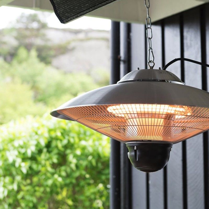 Ce Rohs Double Clear Halogen Indoor Or Outdoor Hanging Patio Heater Electric Garden Ceiling Mounted Heaters