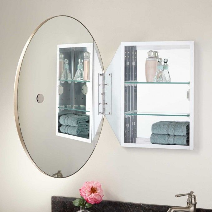 Favaloro Oval Mirror Medicine Cabinet Recessed Bathroom Ideas