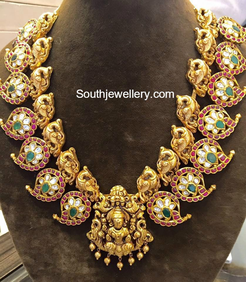 Latest gold necklace designs in grams pachi necklace latest jewellery - Temple Jewellery Latest Jewelry Designs Jewellery Designs