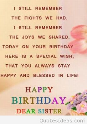Birthday Quotes For Sister Image result for sister birthday quotes | This and That | Sister  Birthday Quotes For Sister