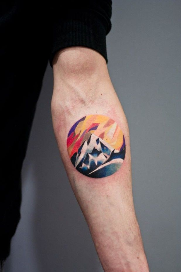3ec321ec5a4d4 Peaceful Mountain Tattoos Part 1 | Tattoo - Nature Scenes ...