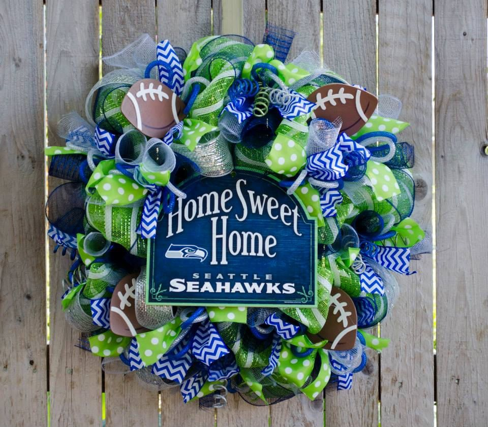 Home Sweet Home Any Team nfl mlb nhl nba Wreath by ourinspiredcreations on Etsy