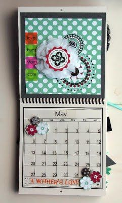 @Elizabeth Carney created this wonderful Calendar using SRM's 6 x 6 calendar, calendar months, calendar numbers and other assorted SRM Stickers.  May