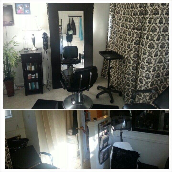 My Home Salon So Far Laundry Room Converted Into Salon