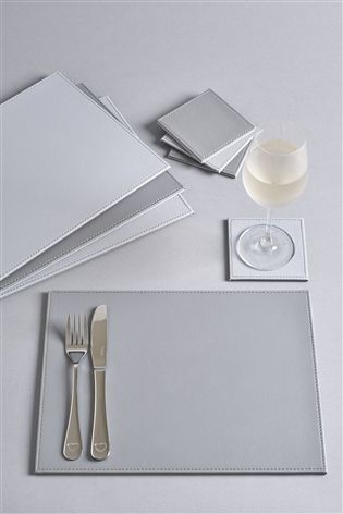 Buy Set Of 8 Faux Leather Placemats And Coasters From The Next Uk Online Shop Placemats Grey Placemats Slate Placemats