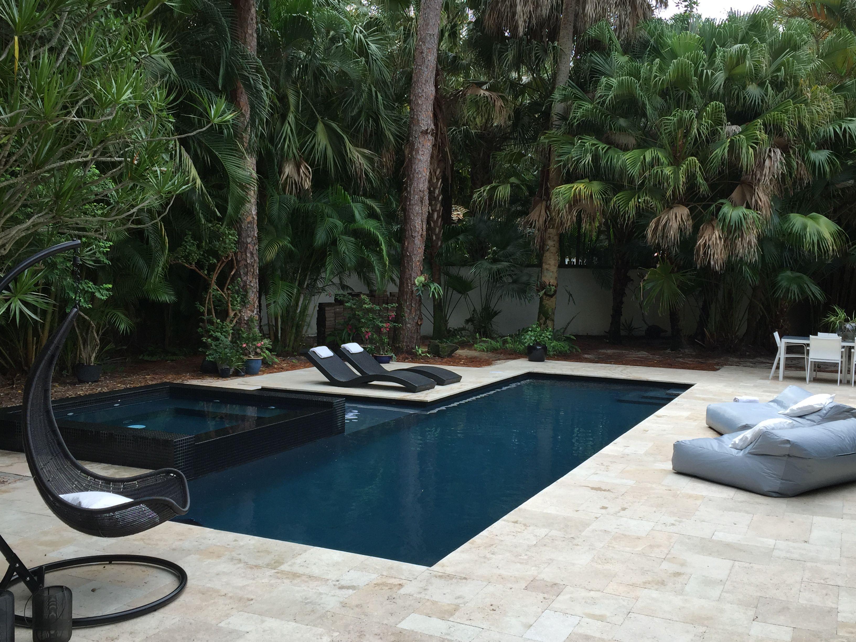 Contemporary zen pool diamond brite cobalt infinity pool for Zen pool design