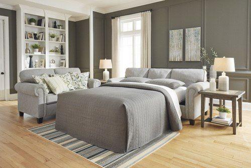 Best Alandari Gray Queen Sofa Sleeper 9890939 In 2019 Queen 640 x 480