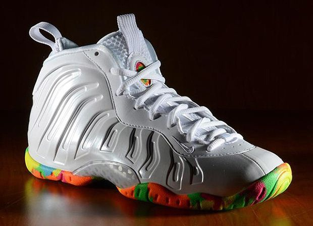da88c12665a Nike Foamposites Kids Rainbow Sole