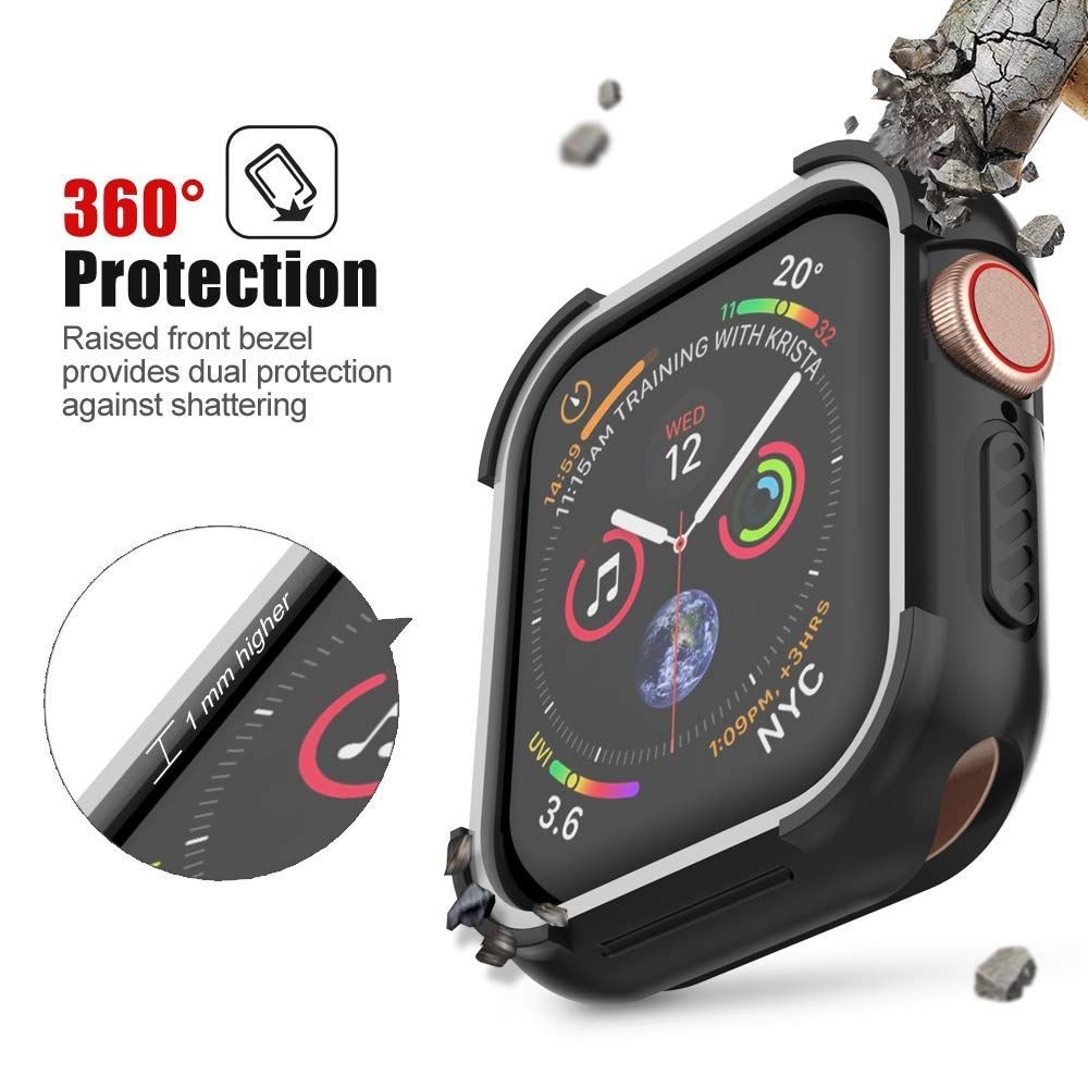 best service 4ec70 de8dc UMTELE Compatible with Apple Watch 4 Case 44mm 2018, Shock Proof ...