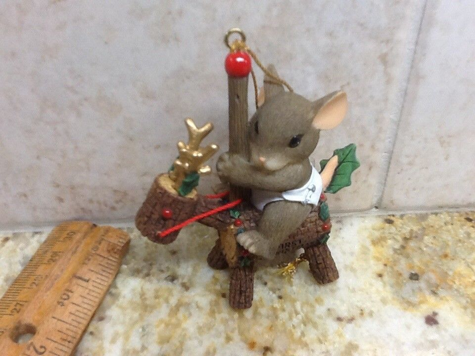 Fitz and Floyd Charming Tails Christmas Carousel 86/107 Mice - christmas carousel decoration