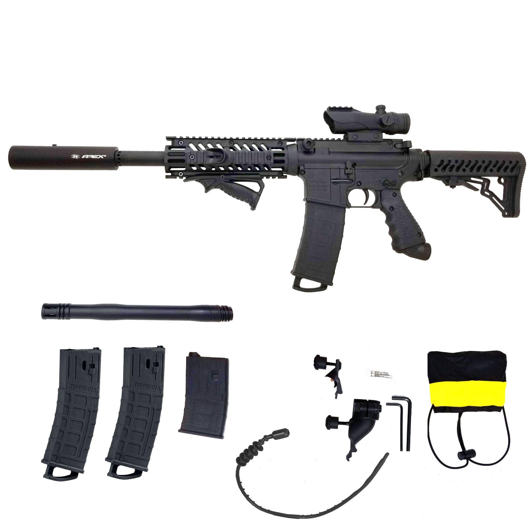 Tippmann TMC Mag Fed Sniper Paintball Marker Black