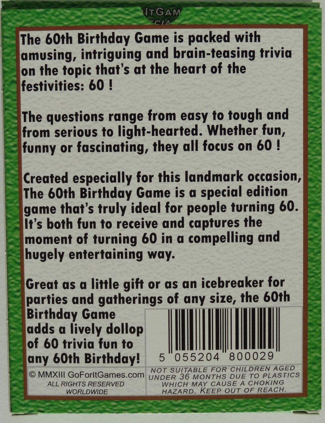 Bright Design Games For 60Th Birthday Party Ideas Amazon Com The 60th Game Fun New
