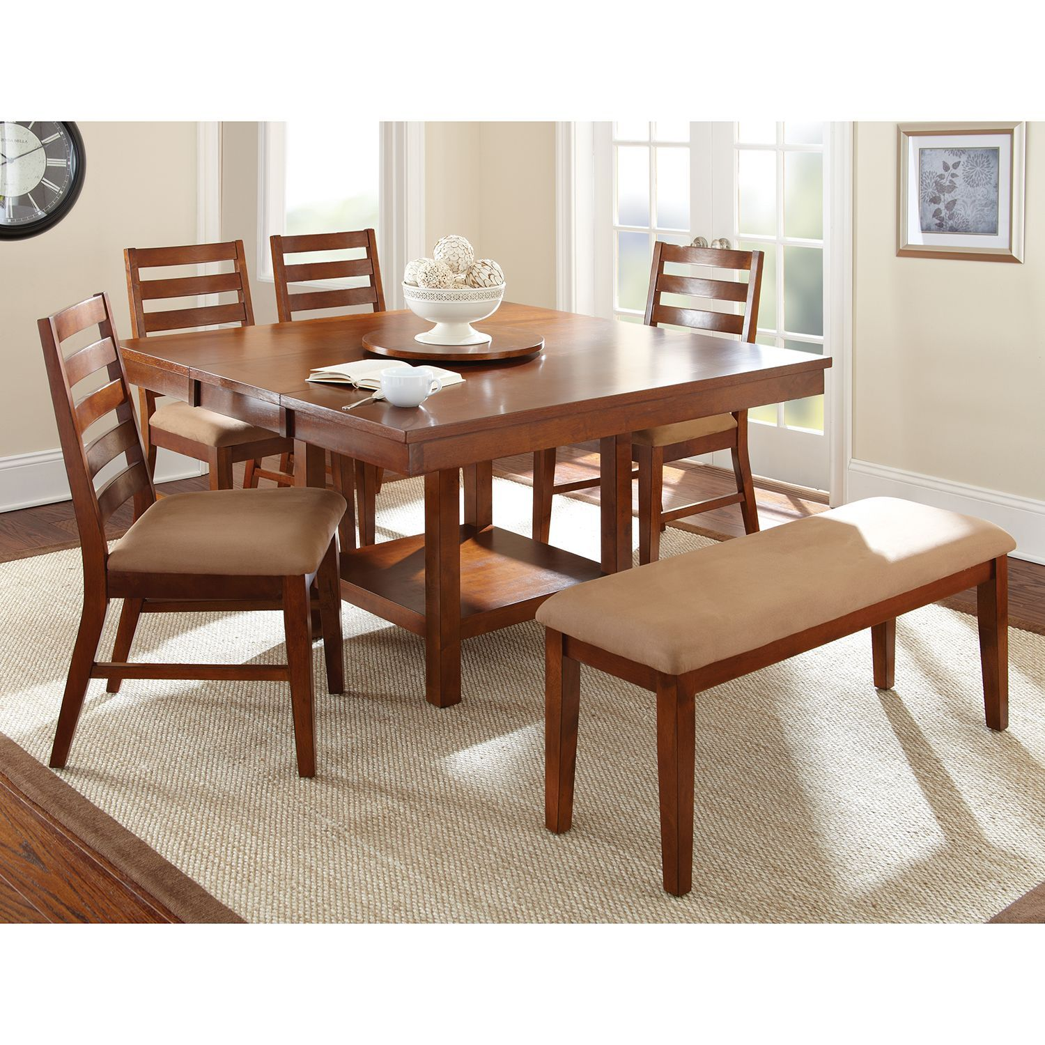 Emerson Dining Set 6 Pc Dining Table With Leaf Side Chairs