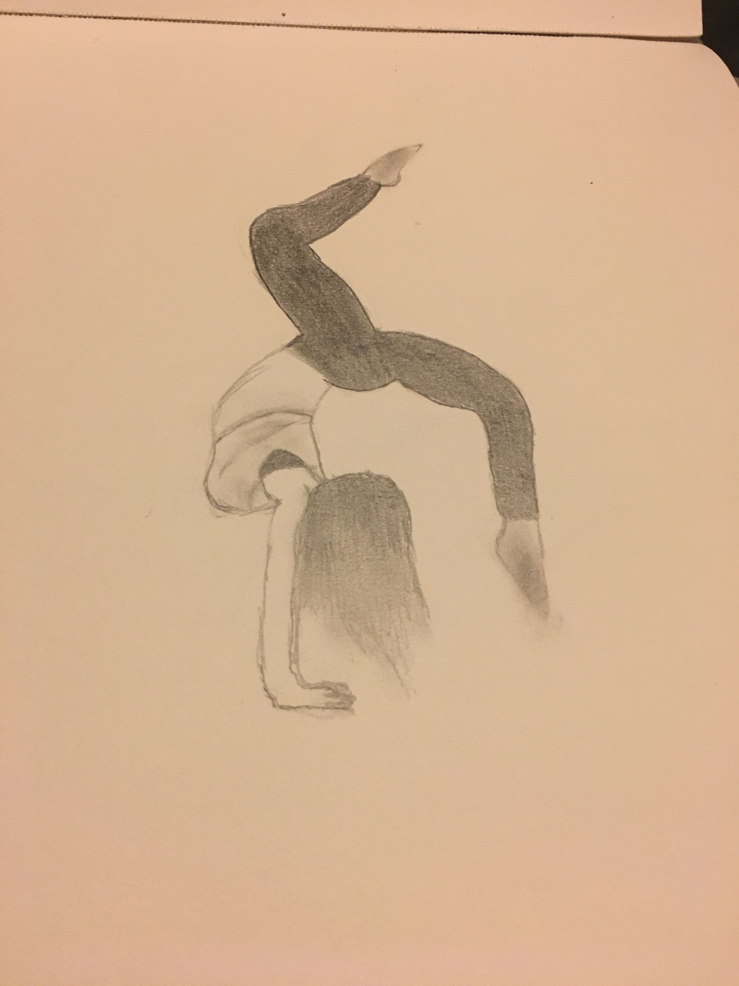 Bent Leg Handstand Gymnasticsdrawing My Drawings In 2019