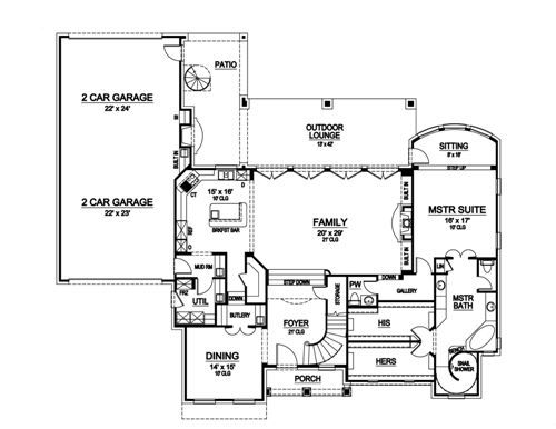 The Colorado 5185 4 Bedrooms And 4 5 Baths The House Designers House Plans House Design Colorado Homes
