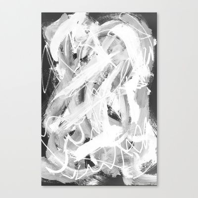 White Canvas Print by Sara Pålsson