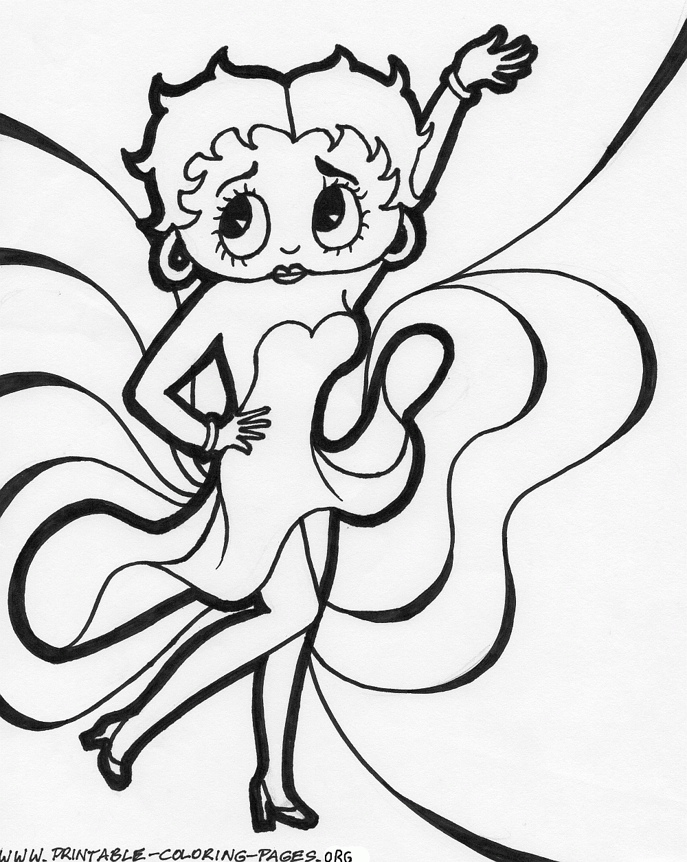 Coloring pages betty boop - Betty Boop Coloring Page
