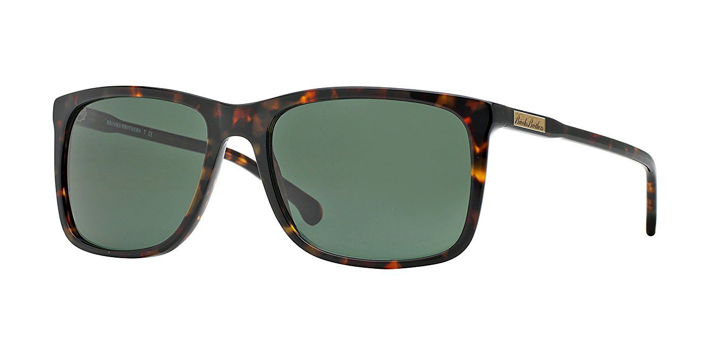 Brooks Brothers Sunglasses BB5018 600171 Tortoise Green Solid 58 18 ...