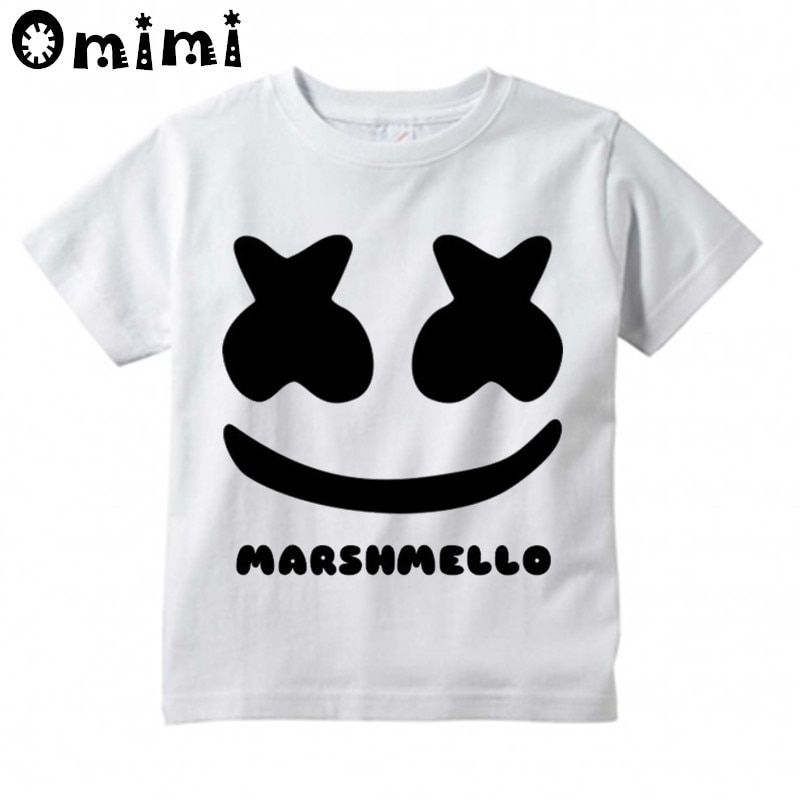 Boys Girls Dj Marshmello Design T Shirt Birthday Party Shirt