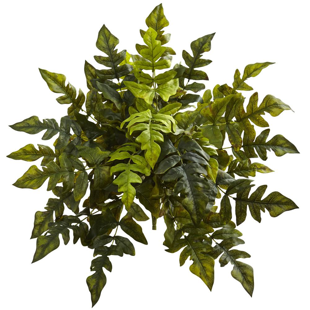 Nearly Natural Indoor 24 in. Holly Fern Artificial Plant (2-Set)-6147-S2 - The Home Depot -   13 table plants Png ideas