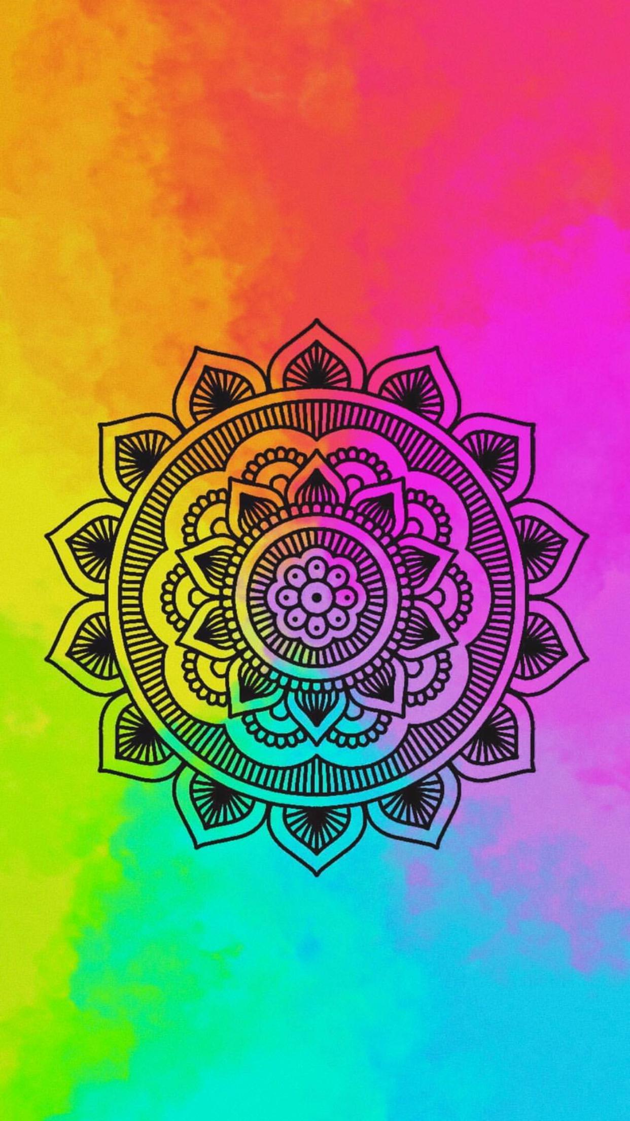 colorful mandala mandalas pinterest fondos de