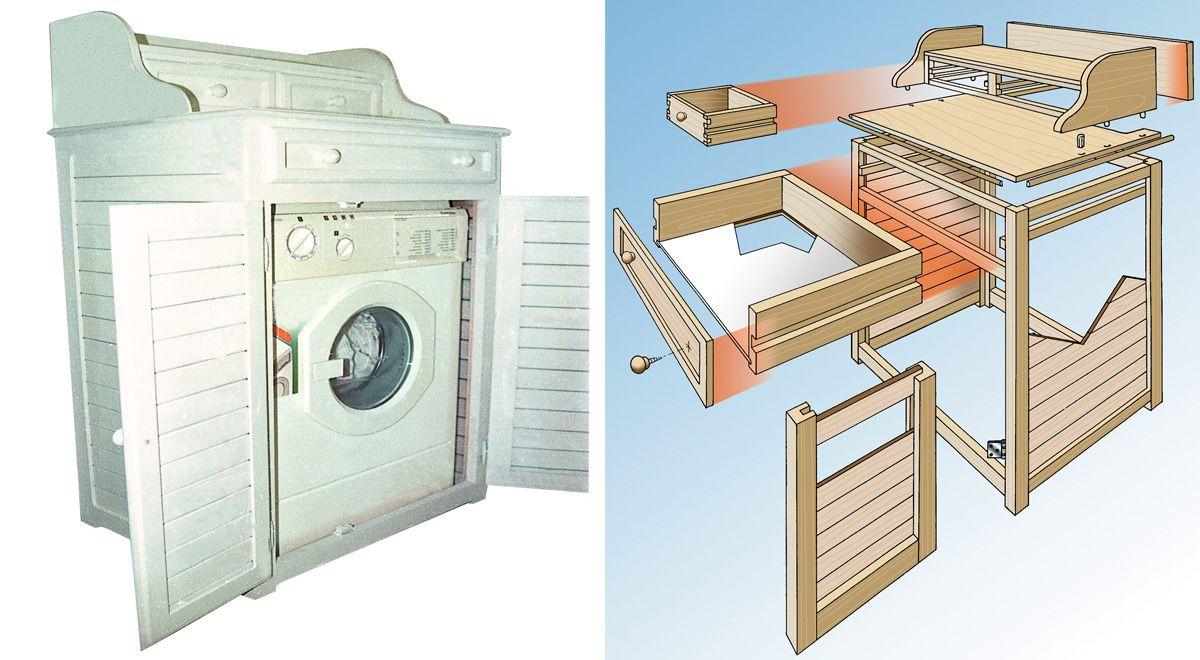Mobile Proteggi Lavatrice Da Esterno mobile lavatrice fai da te (con immagini) | bagno fai da te