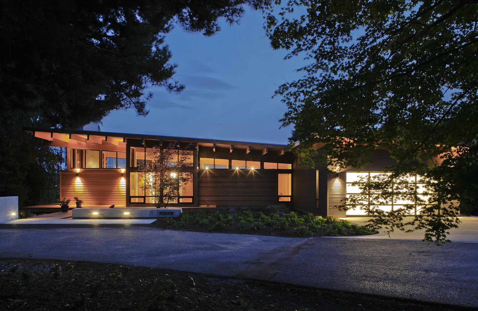 Northwest Modern Home Architecture vancouver airport home - driveway - pacific northwest modern home